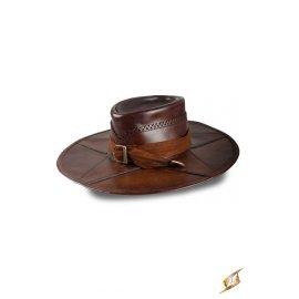 Chapeau de chasseur de sorcières cuir brun