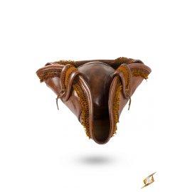 Tricorne Pirate en cuir brun