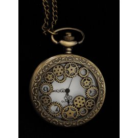 MONTRE STEAMPUNK ENGRENAGES QUARTZ