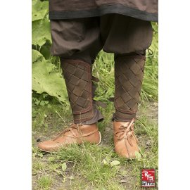 GREVES DU VIKING EN CUIR - MARRON