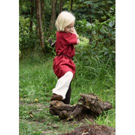 Medieval Tunic Linus for Children, short sleeve, red
