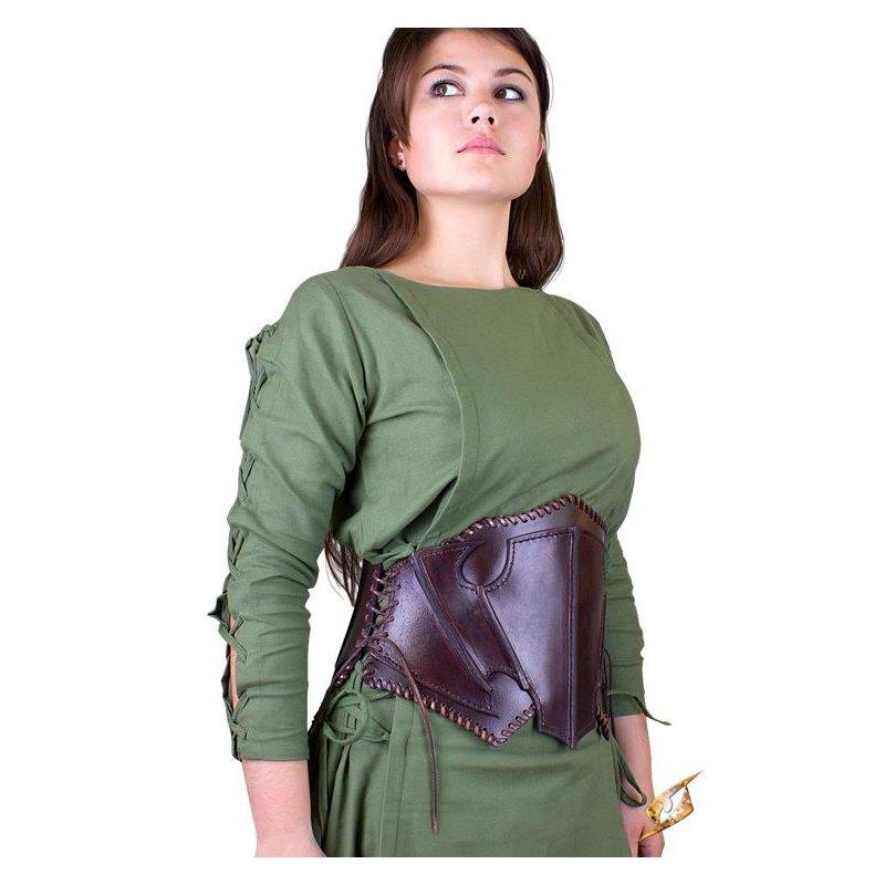 corset elfe noir en cuir marron fonce marron chevalier du drac. Black Bedroom Furniture Sets. Home Design Ideas