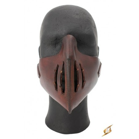MASQUE MEMPO EN CUIR MARRON