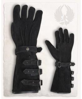 Gants de lescrime Gants de Chevalier GN m/édi/éval Noir Gants Gant de Cuir Sauvage M Noir