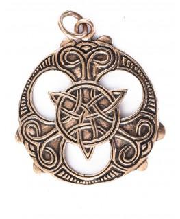 Pendentif en forme de dragon celtique de protection en argent avec marteau de Thor et chevalier