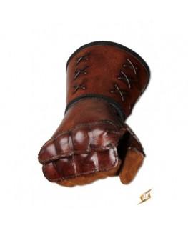 Esthétique ce gantelet cuir main droite offre une protection maximale de l'avant-bras