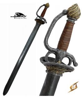 L'épée de cour est le modèle de l'épée de duel, avec sa garde en coque et sa lame formée pour l'escrime de pointe