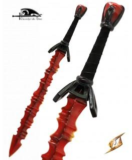 Cette épée à la lame infernale a surement des pouvoirs magiques