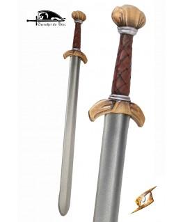 Une épée en forme de glaive celtique, idéale pour le combat rapproché