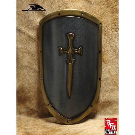 Un petit écu orné d'une épée dorée pour les chevaliers