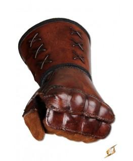 Esthétique ce gantelet cuir main gauche offre une protection maximale de l'avant-bras